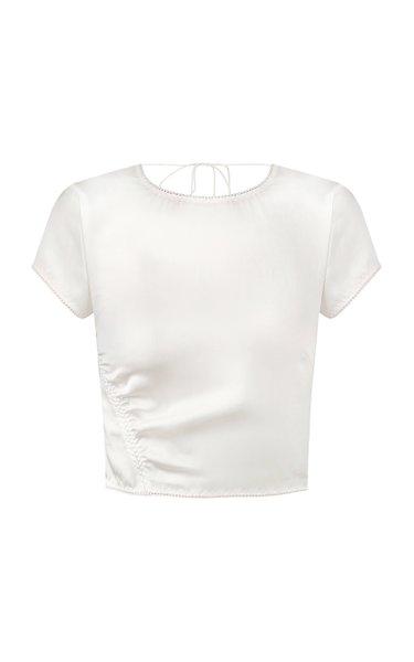 Oksana Satin T-Shirt