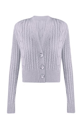 Toma Cable-Knit Wool-Blend Cardigan