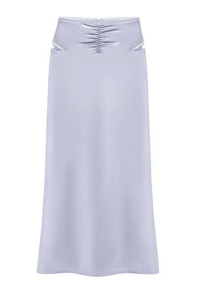 Lucy Cutout Satin Midi Skirt