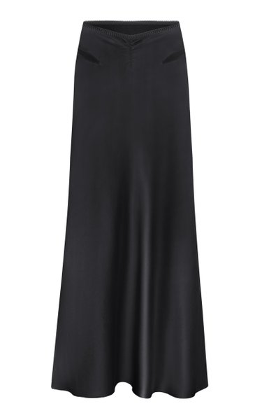 Lucy Satin Midi Skirt