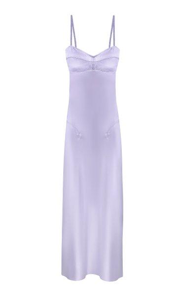 Waterlily Sleeveless Satin Midi Dress
