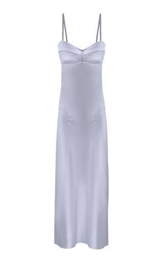 Waterlily Cutout Satin Midi Dress