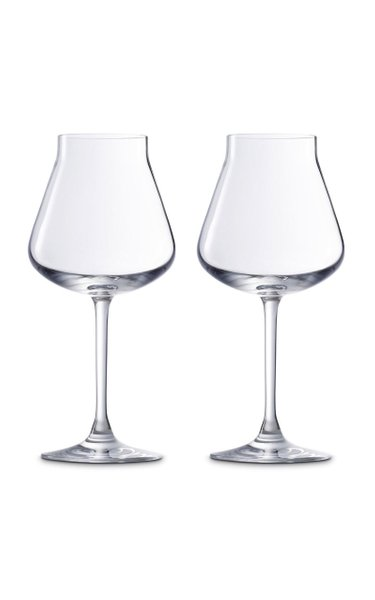 Set-Of-Two Château Baccarat White Wine Glasses