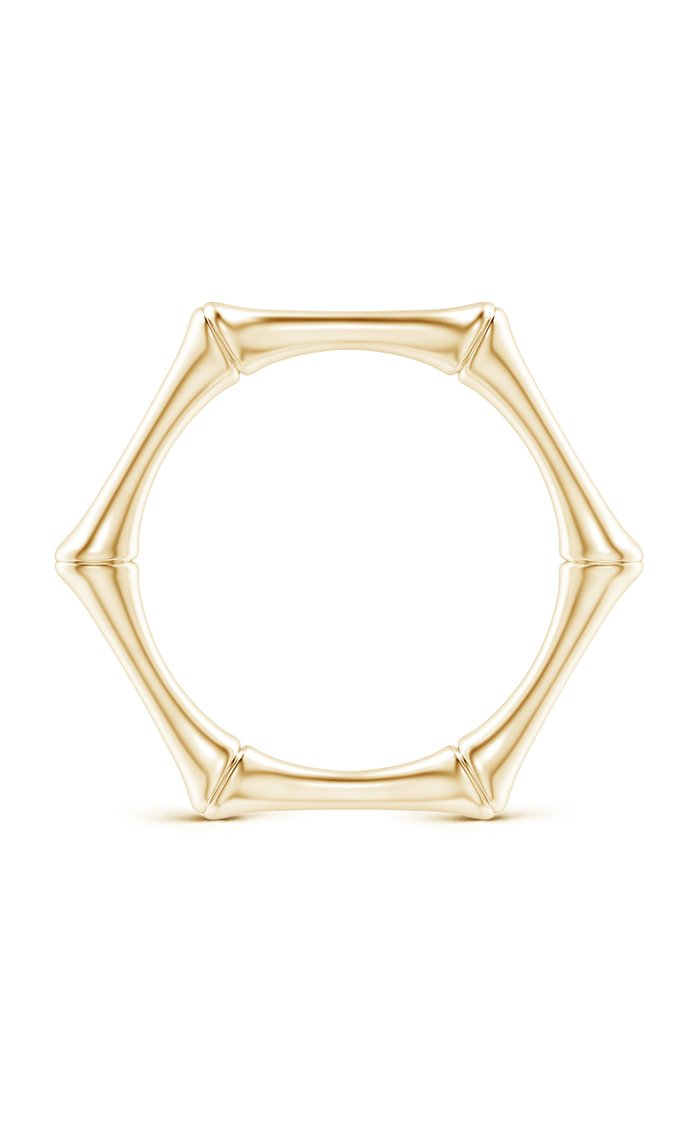 Indochine 14k Gold Bamboo Ring