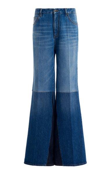 Patchwork Flare-Leg Jeans