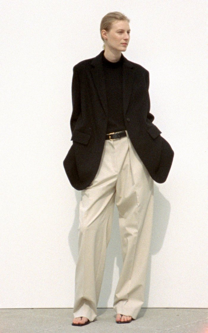 Igor Pleated Cotton Straight-Leg Pants