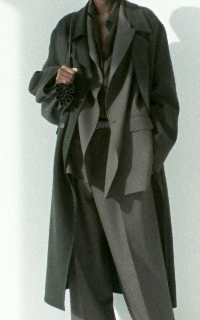 Dilona Brushed Cashmere-Blend Coat