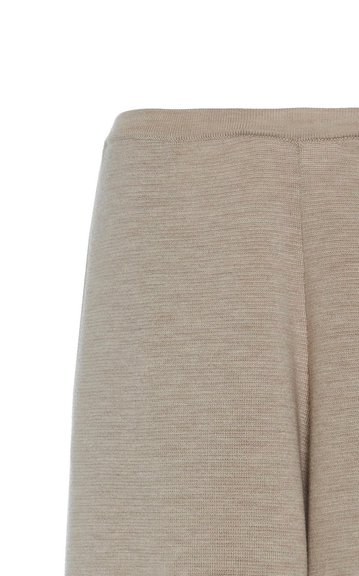 Chuk Wool-Silk Wide-Leg Pants