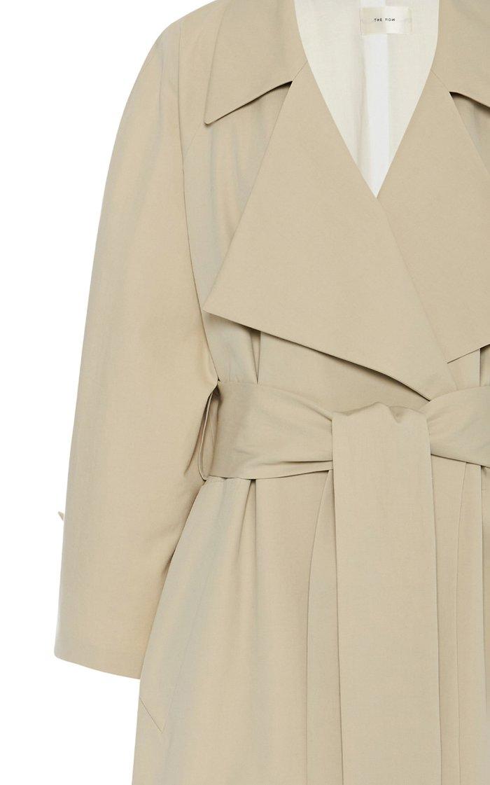 Au Belted Gabardine Trench Coat