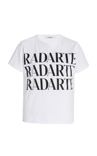 Stacked Logo Printed Jersey T-Shirt