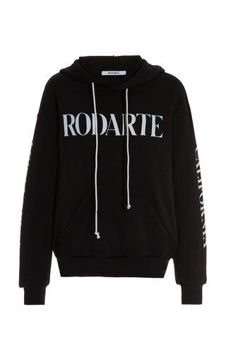 Radarte-Printed Cotton-Blend Hoodie