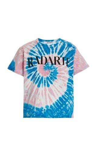 Logo-Print Tie-Dyed Cotton T-Shirt