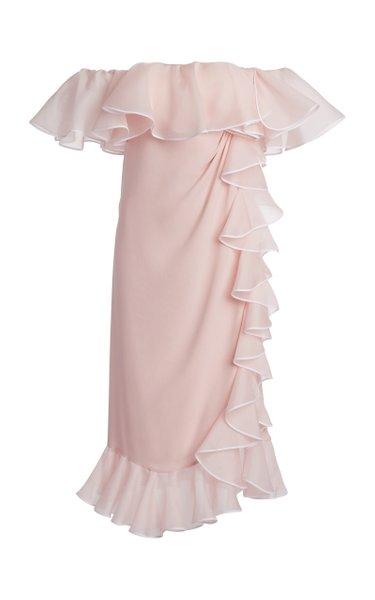 Silk Georgette Ruffle Dress
