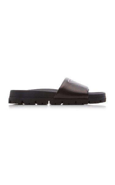 Nappa Leather Slide Sandals