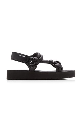Knotted Padded Leather Sandals