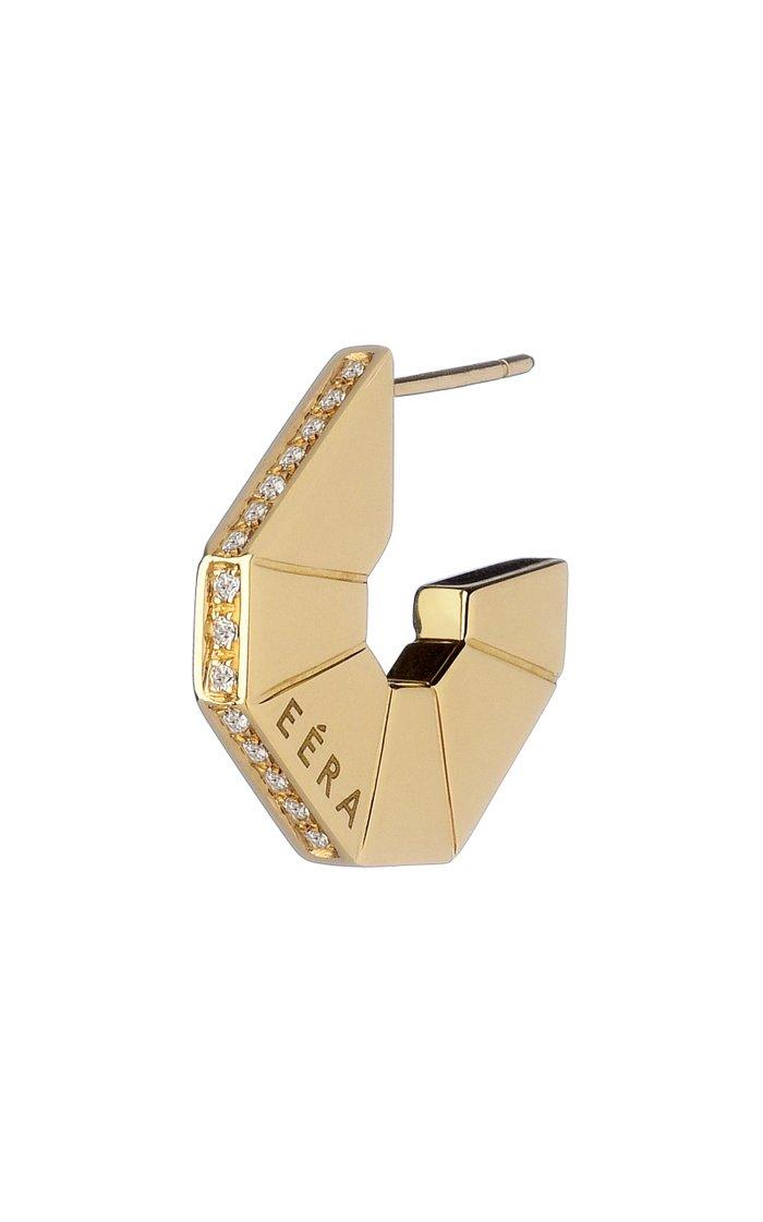 18K Yellow Gold & Diamond Earring