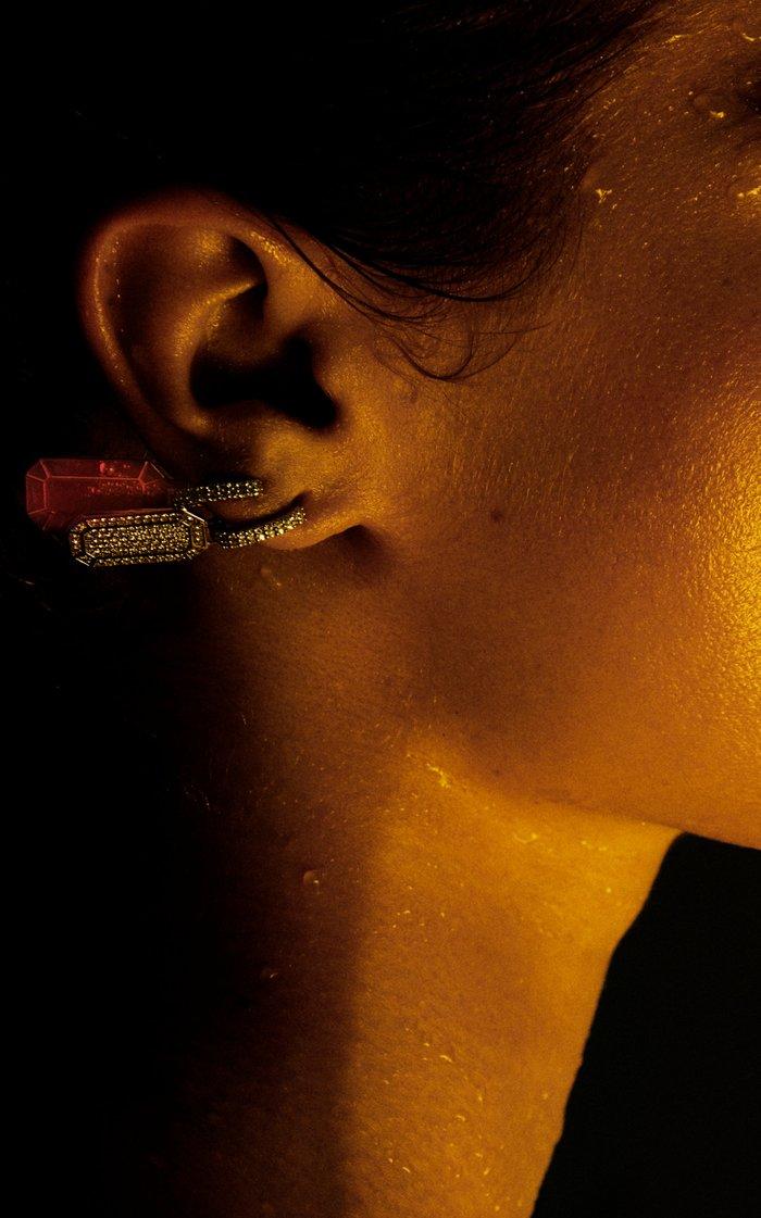18K White Gold Tokyo Earring