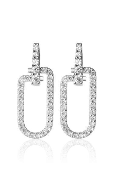 18K White Gold Reine Earrings