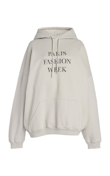 Oversized Fashion Week Cotton Hoodie