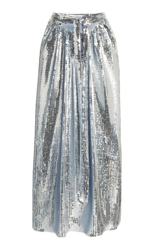 Sequined Jersey Maxi Skirt