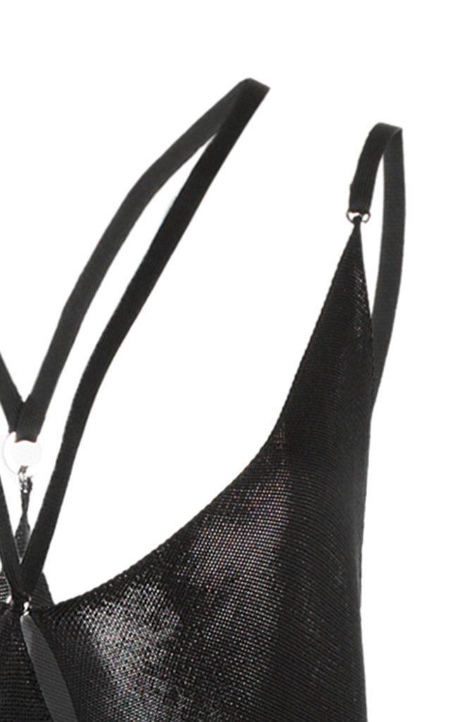 Knit-Argyles Slip Dress