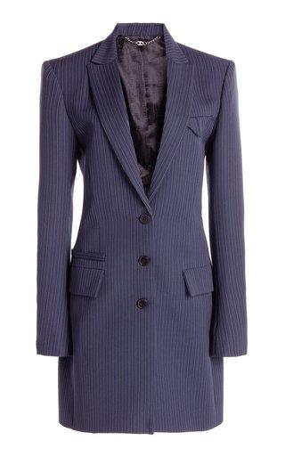 Pinstriped Wool Blazer
