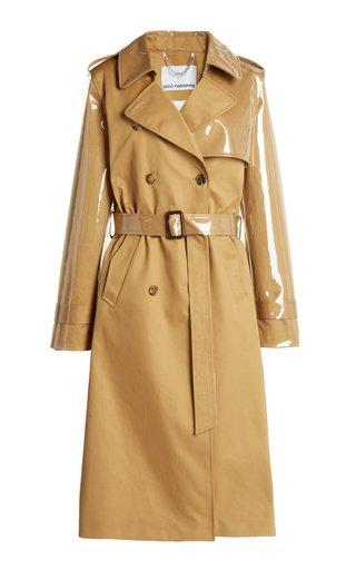 Coated Cotton Gabardine Trench Coat