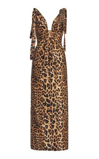 Leopard-Print Jersey Maxi Dress