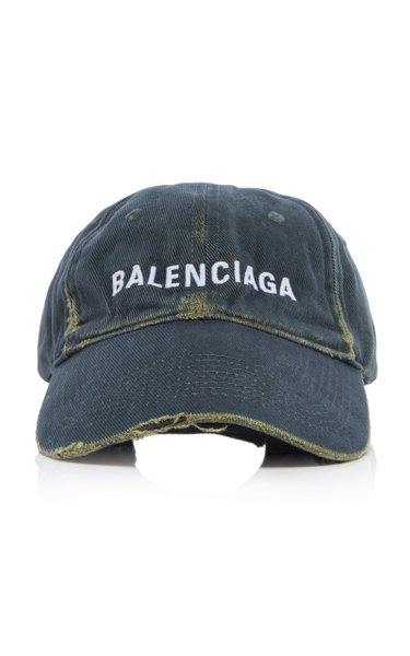 Logo-Embroidered Distressed Baseball Cap
