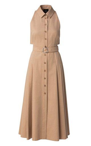 Belted Cotton-Poplin Shirt Dress