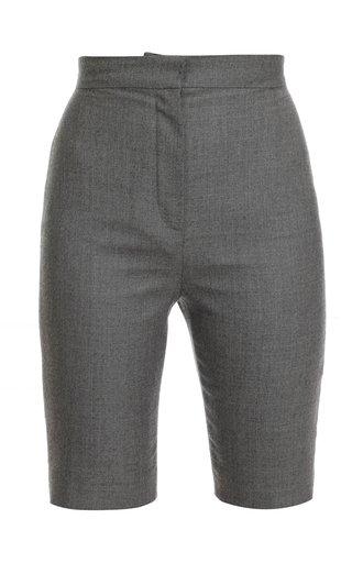 High Waist Flannel Biking Shorts