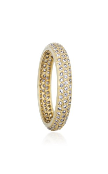 The Tire 18k Yellow-Gold, White and Fancy Diamond Ring