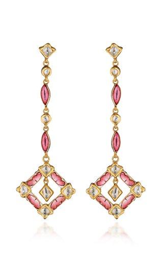 Lotus Petal 18K Yellow Gold Diamond Earrings