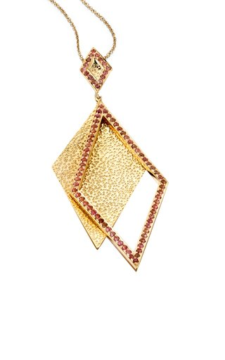Shimmer 14K Yellow Gold Tourmaline Necklace