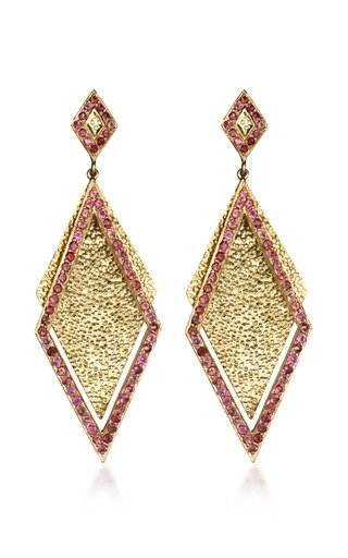 Shimmer 14K Yellow Gold Tourmaline Earrings