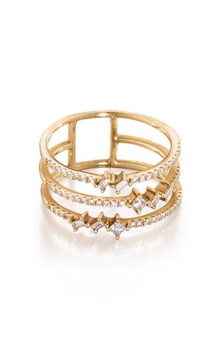 Trio 18K Yellow Gold Diamond Ring
