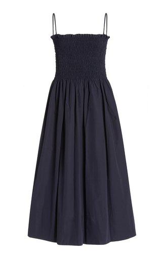 Lena Smocked Cotton Midi Dress