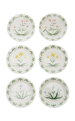 Exclusive Set-Of-Six Painted Ceramic Salad Plates