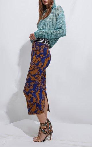 Gonna Printed Knit Maxi Skirt