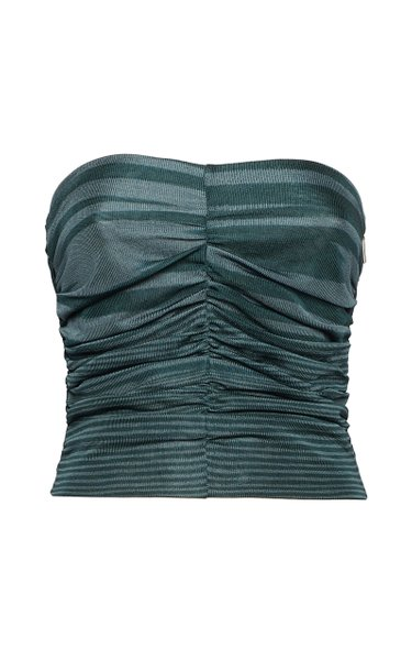 Space-Dyed Knit Bandeau Top