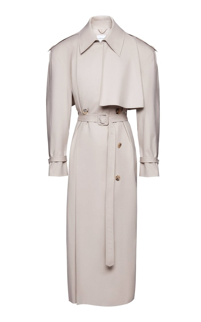 Cotton-Blend Trench Coat