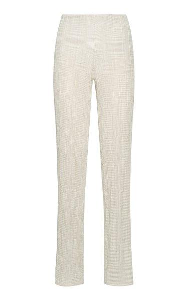Straight-Leg Knit Pants