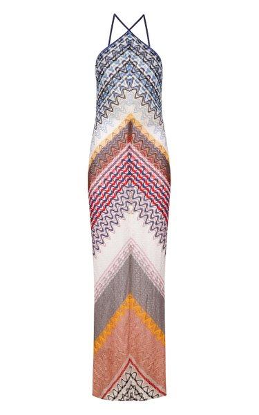 Abito Zig-Zag Knit Maxi Dress