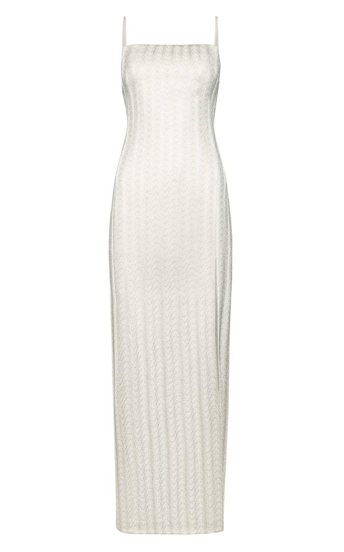 Sleeveless Silk-Lined Maxi Slip Dress