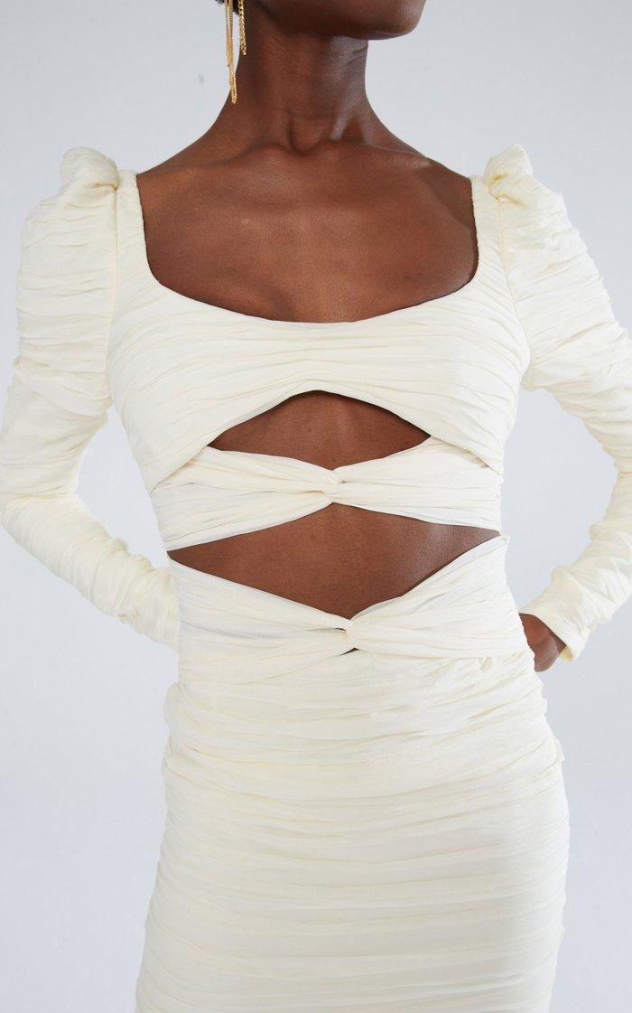 Cutout Silk-Blend Dress