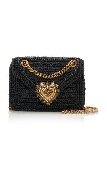 Devotion Embellished Raffia Shoulder Bag