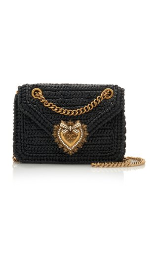 Devotion Embellished Raffia Shoulder Bag