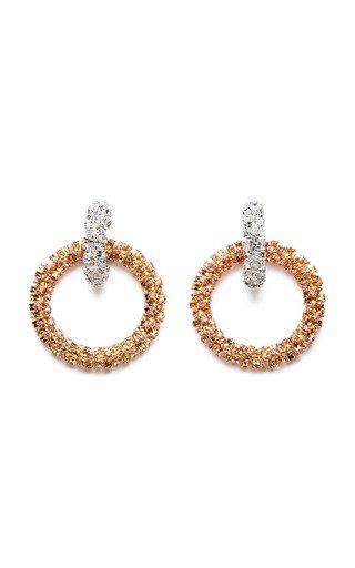 Malt Two-Tone Statement Earrings
