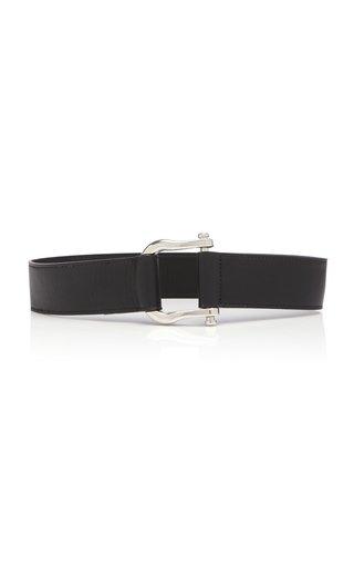 Saddle Buckle Leather Belt