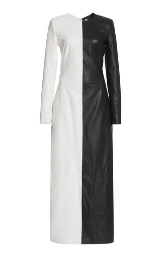 Currie Leather Maxi Dress